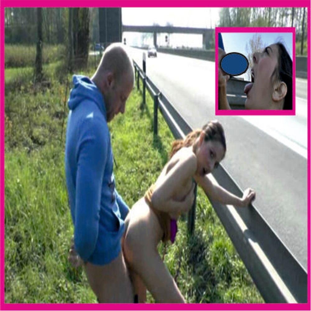 PUBLIC SEX auf der A46 Schwanz krass AbgeFICKt